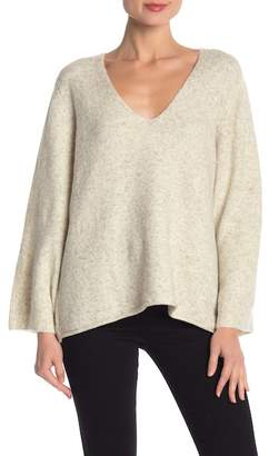 French Connection V-Neck Long Sleeve Knit Pullover