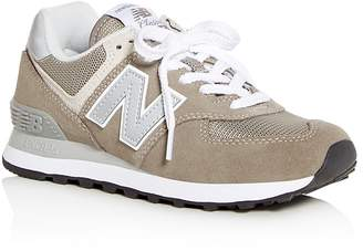 New Balance Women's Classic 574 Suede Lace Up Sneakers
