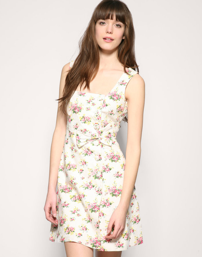 Darling Floral Button Dress