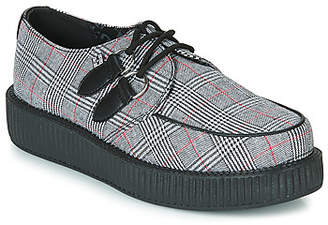 T.U.K. VIVA LOW PLAID CREEPER women's Casual Shoes in Grey