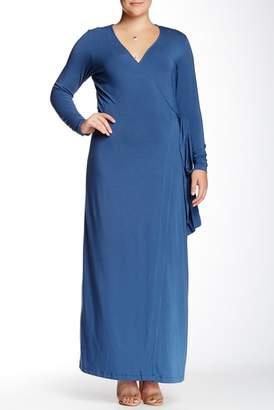 Mynt 1792 Maxi Wrap Dress (Plus Size)