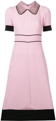 No.21 embellished collar dress