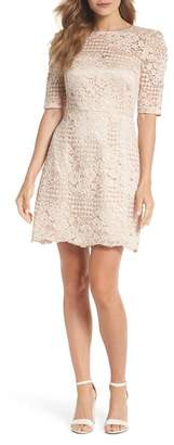 Chelsea28 Ruched Sleeve Lace Dress (Regular, Petite & Plus Size)