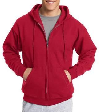 Hanes Big & Tall Men's EcoSmart Fleece Zip Pullover Hoodie with Front Pocket