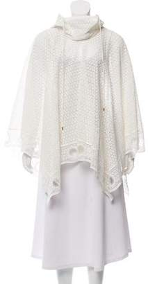 Chloé Hooded Guipure Lace Poncho w/ Tags
