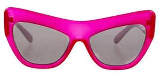 Le Specs Adam Selman x Playgirl Oversize Sunglasses Red Adam Selman x Playgirl Oversize Sunglasses