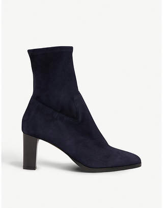 LK Bennett Kayla suede heeled ankle boots