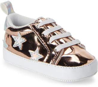 Rising Star (Infant Girls) Rose Gold Metallic Star Low-Top Sneakers