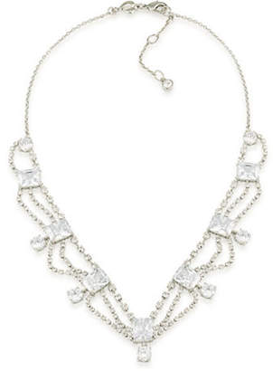 Carolee Pave Cascading Bridal Necklace