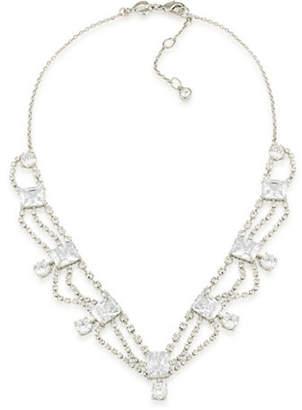 Carolee Pave Cascading Bridal Necklace