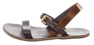 Acne Studios Leather Flat Sandals