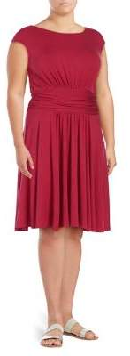 Context Plus Scoop-back Pleated Dress