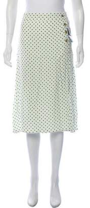 Faithfull The Brand Knee-Length Polka-Dot Skirt w/ Tags