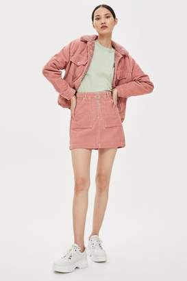 Topshop Corduroy Skirt with Zip