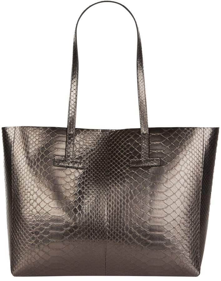 TOM FORD Python Tote Bag, Silver, One Size