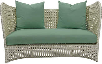 "David Francis Furniture South Beach Outdoor 60"" Loveseat - Green"