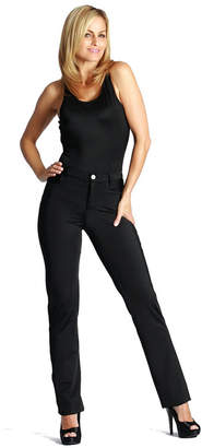 Fly London Lamonir Slimming Compression Pant with Back Pockets and Mock