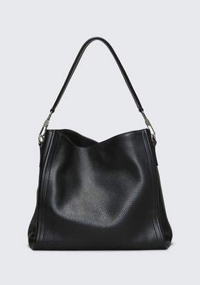 Alexander Wang DARCY HOBO IN PEBBLED BLACK WITH RHODIUM