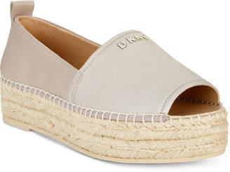 DKNY Mer Peep-Toe Espadrille Sandals