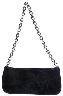 Salvatore Ferragamo Velvet Chain Shoulder Bag