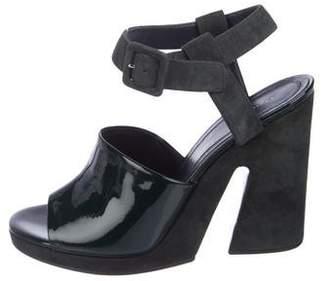 Celine Green Slingback Sandals