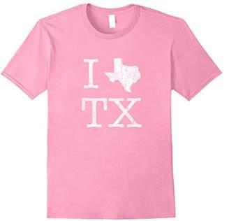 Texas T-Shirt Vintage I Love (Heart) TX Texas Tee