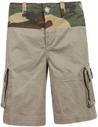 Off-White Camouflage Print Cargo Shorts