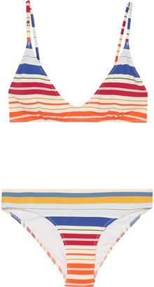 Stella McCartney Striped Triangle Bikini - White