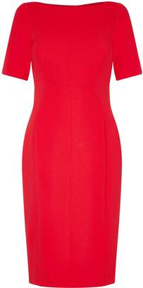 Next Womens Adrianna Papell Red Angled Seams Knit Crepe Sheath Dress