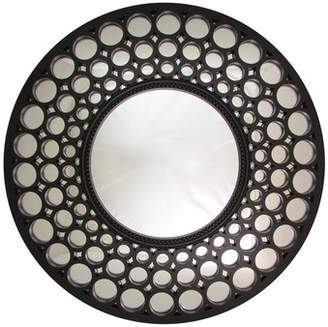 Glamorous Northlight Cascading Orbs Framed Round Wall Mirror