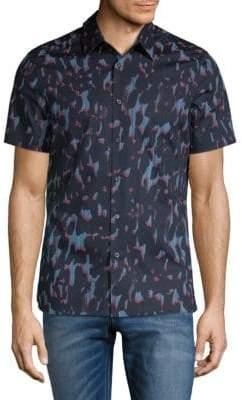 Perry Ellis Camo Button-Down Shirt