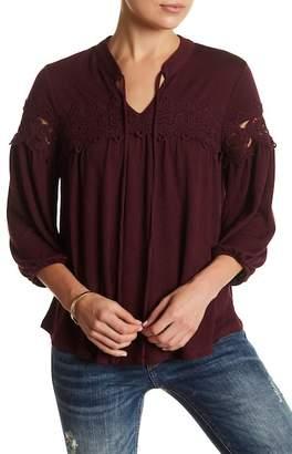 SUSINA Long Sleeve Crochet Knit Blouse (Petite) $26.97 thestylecure.com