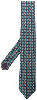 Prada geometric-print tie