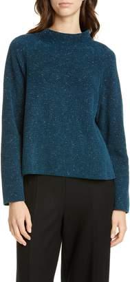 Eileen Fisher Funnel Neck Organic Cotton Sweater