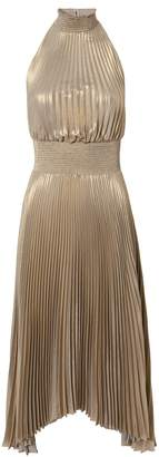 A.L.C. Renzo Metallic Pleated Dress