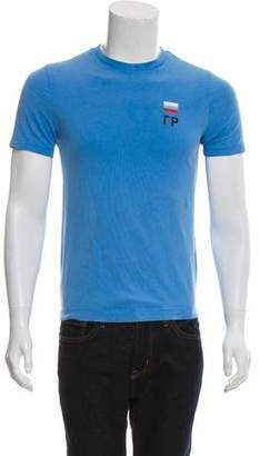 Gosha Rubchinskiy Flag Print Crew Neck T-Shirt