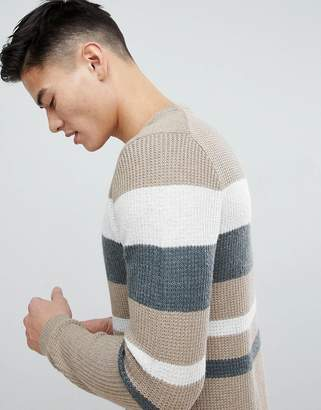 Esprit Sweater With Mixed Stripes