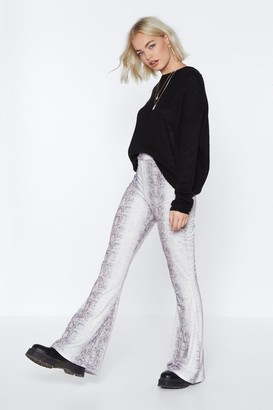 Nasty Gal Whatever It Snakes Flare Pants