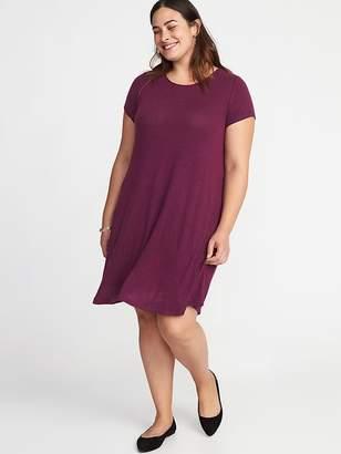 Old Navy Plush Jersey-Knit Plus-Size Swing Dress