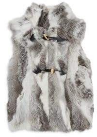 Adrienne Landau Little Girl's& Girl's Rabbit Fur Vest