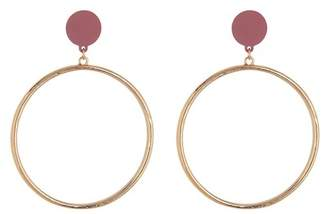 Spring Street Matte Large Hoop Earrings
