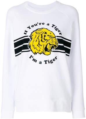 Zoe Karssen tiger slogan sweatshirt