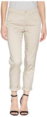 Liverpool Buddy Relaxed Trousers Micro-Peached Twill in Marble Ivory Women's Casual Pants