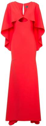 Greta Constantine deep V neck dress
