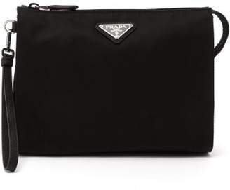 Prada Logo Plaque Wash Bag - Mens - Black 66e687b3a920d