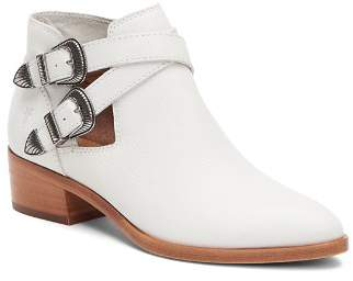 Frye Women's Ray Leather Western Buckled Booties