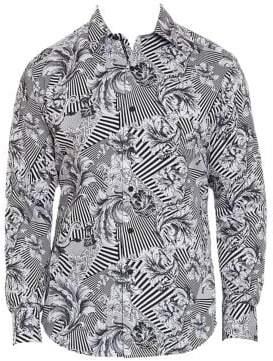 Robert Graham Bellamy Cotton Abstract-Print Sport Shirt