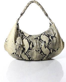 Cole Haan Cole Haan Multi-Color Snake Print Single Strap Embossed Leather Shoulder Handbag