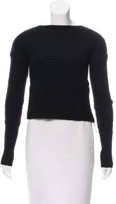 Tibi Wool Cropped Sweater