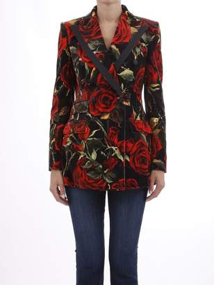 Dolce & Gabbana Blazer With Red Roses